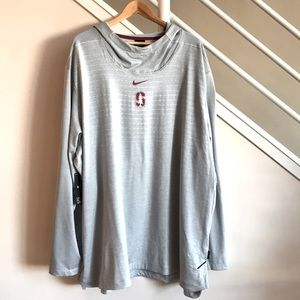 Nike Stanford Cardinals Football Hoodie Gray 4XL